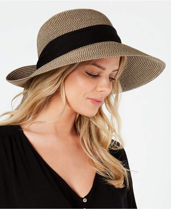 ffd56d1a27268 Belfry Malibu Crushable Safari Hat In a Fuchsia and Black Paper Braid Weave  - Natural Black - CC182LD3RS0 - Hats   Cap…