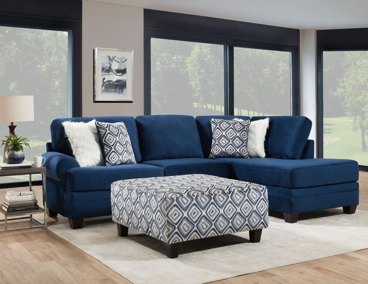 Albany Groovy Navy Sectional Sofa Blue Sofas Living Room Navy Sofa Living Room Blue Living Room Decor