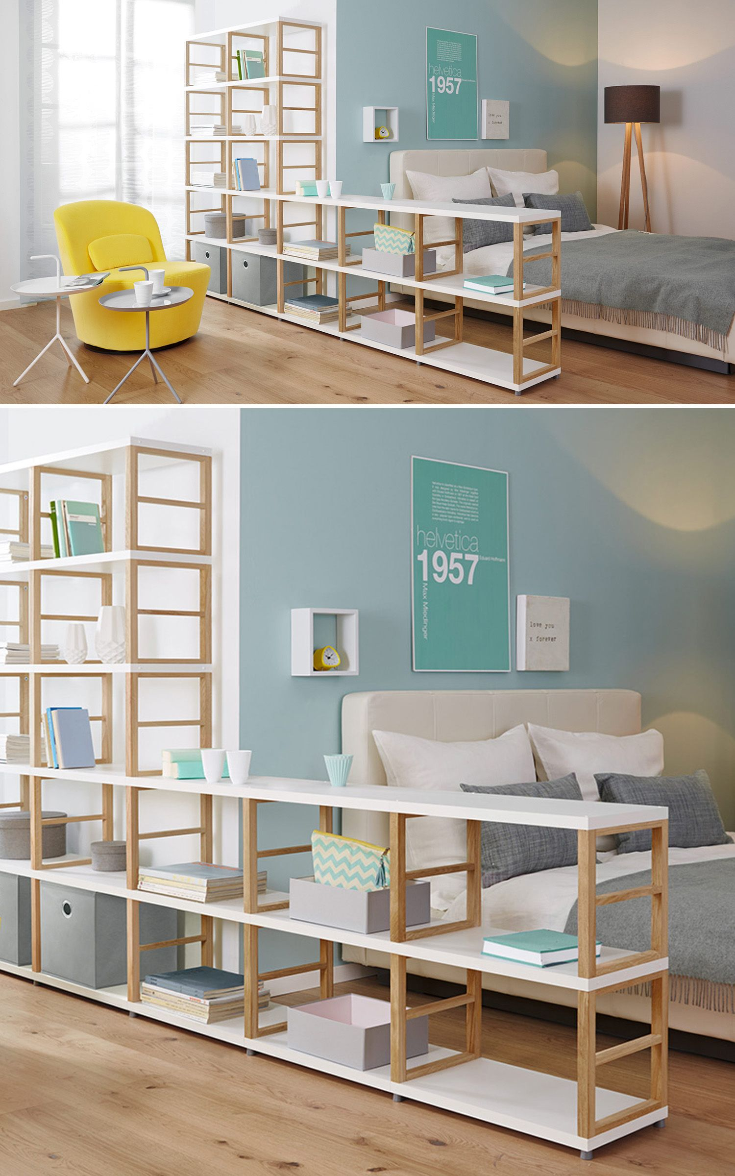 Raumteiler Regale  Ideen frs Wohnzimmer und