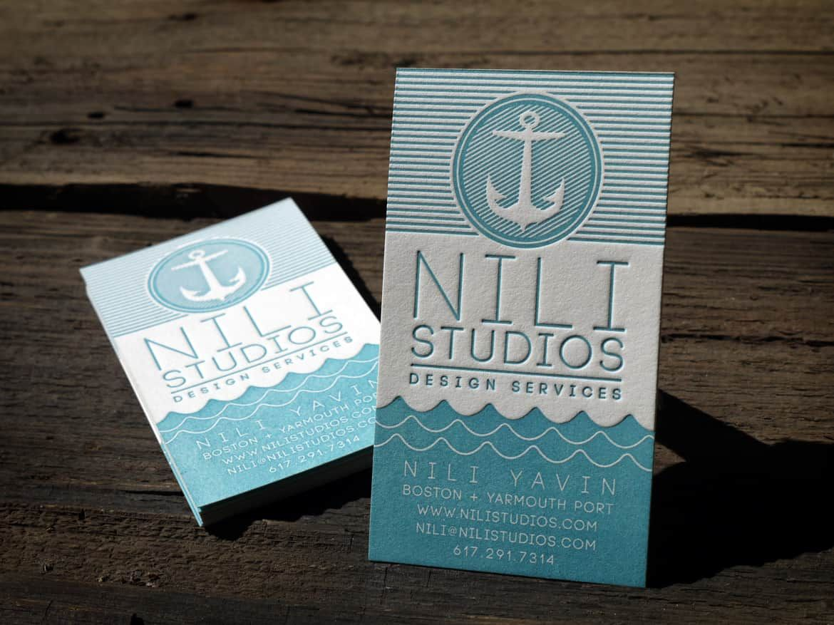 Great design design print 1 color on reich paper 118lb savoy 100 nili studios nautical letterpress business cards by print grain love this design reheart Choice Image