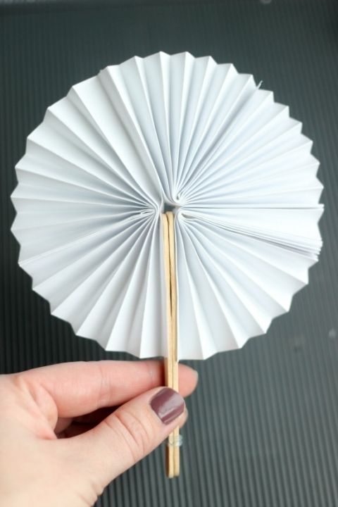 Foldable Paper fan Great for hot days or wedding// party accessories.