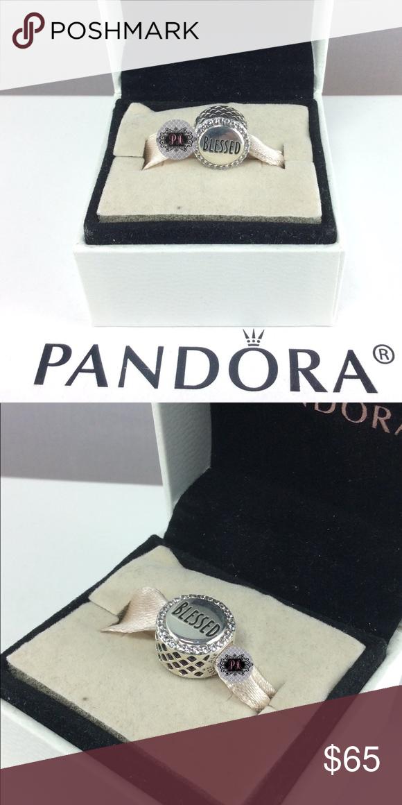 a5b000c1b New Pandora Blessed Charm, Clear CZ 100% Authentic Pandora Blessed Charm  ENG792016CZ_3 Retail: