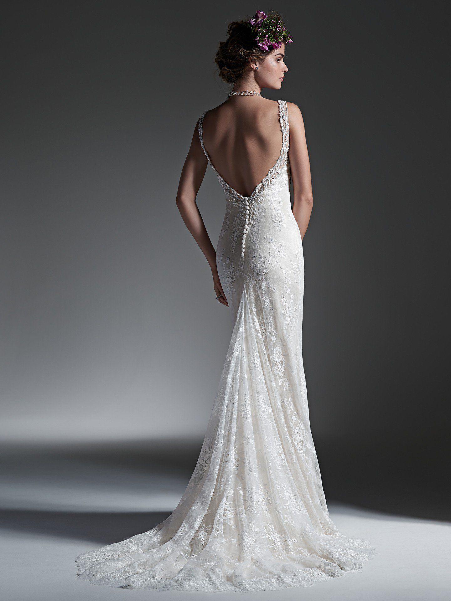 Minimal Lace Wedding Dress Perri By Sottero And Midgley