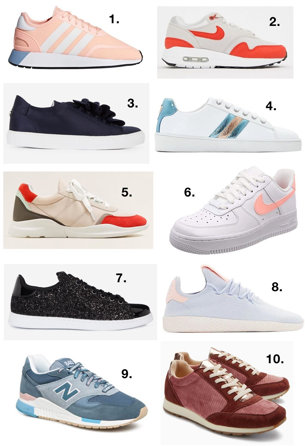 7bca49ee591e Baskets automne-hiver 2018-2019   10 sneakers tendances qu on adore !   baskets  sneakers  adidas  nike  newbalance