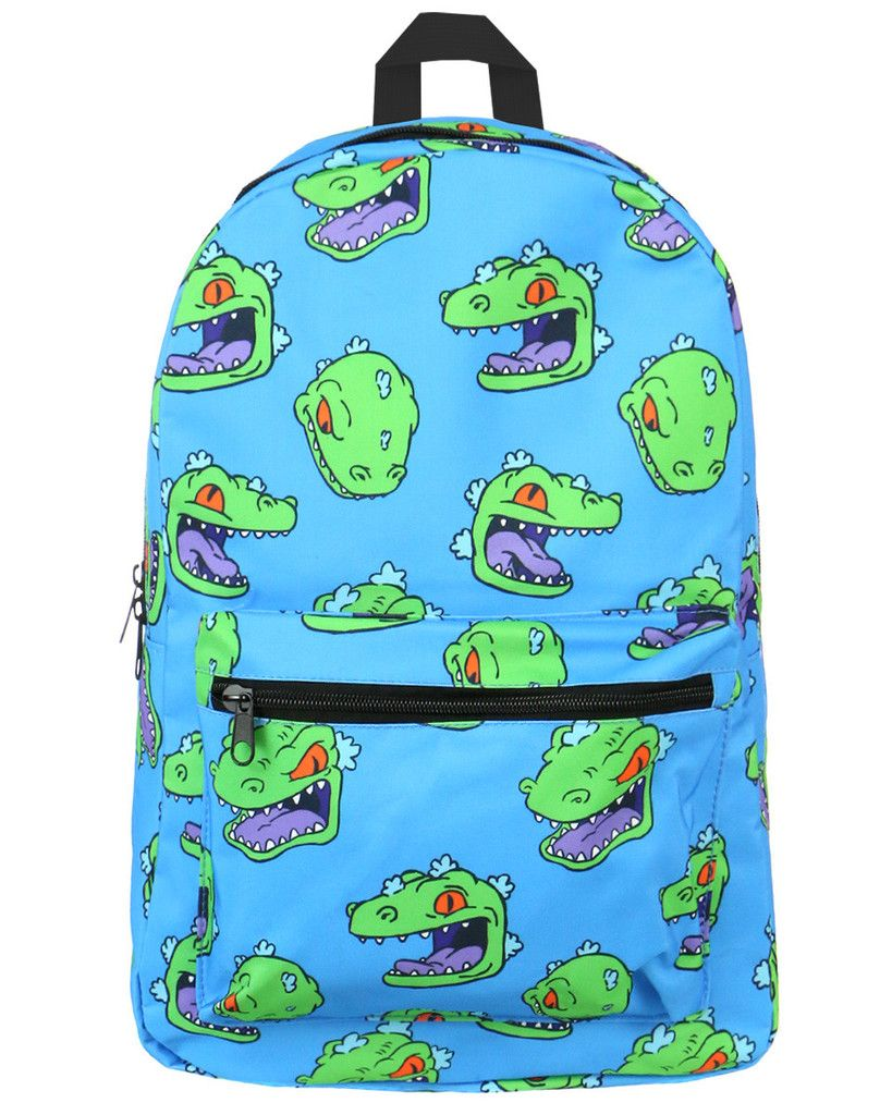 Rugrats Reptar Backpack. THIS IS THE BEST THING IVE SEEN ALL DAY OMG