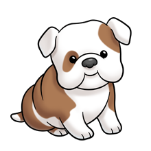 Image result for baby bulldog clipart