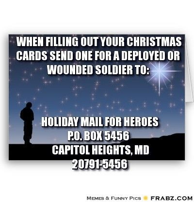 Christmas Cards For Wounded Soldiers