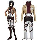 Attack on Titan Ackerman Mikasa Cosplay Costume Uniform ...