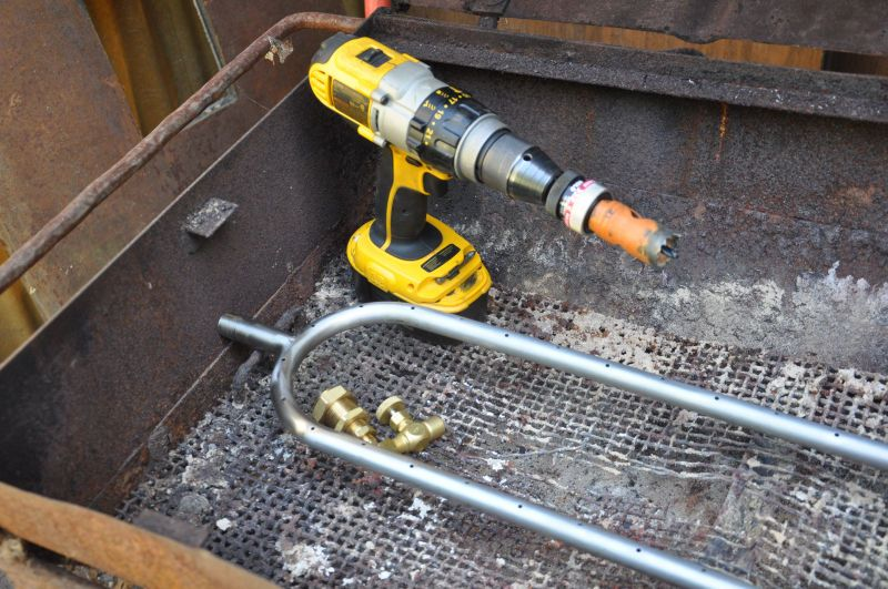 Bbq conversion to gas gas bbq diy grill