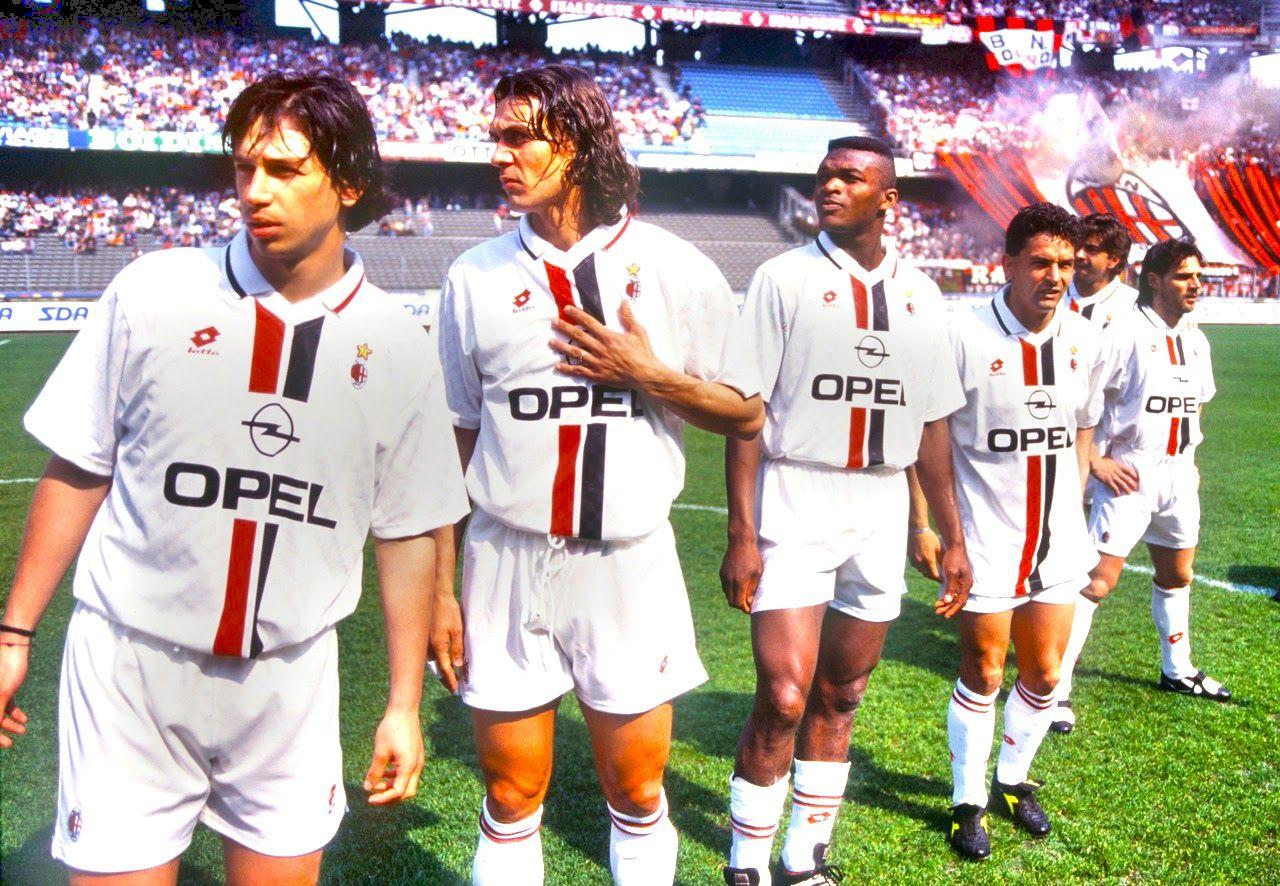 DESAILLY-MALDINI-ALBERTINI-BAGGIO-SIMONE- AC MILAN | Roberto baggio, Ac  milan e Paolo maldini
