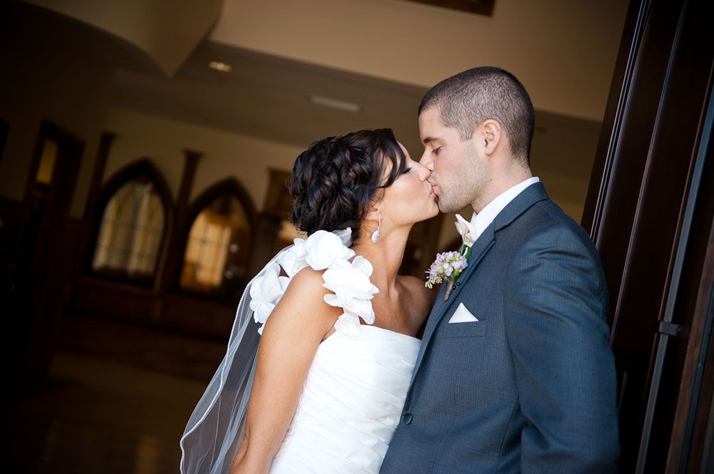 Bride And Groom At Lee University Chapel In Cleveland Tn Chattanooga Wedding Photography By