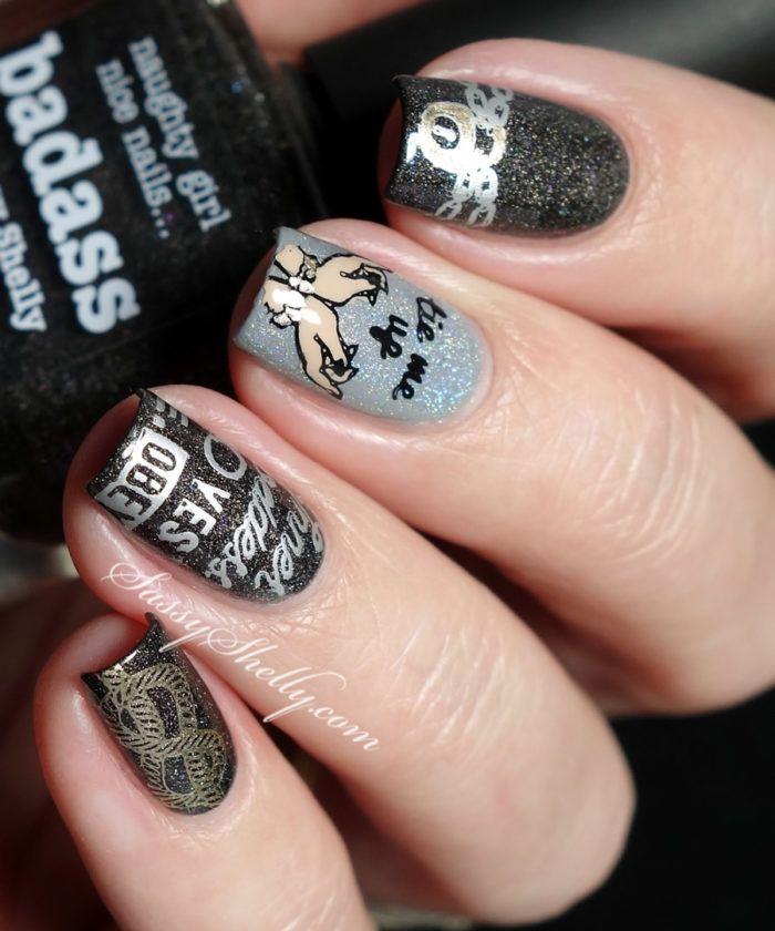 Digit al dozen black fifty shades of nail stamping picture digit al dozen black fifty shades of nail stamping prinsesfo Images