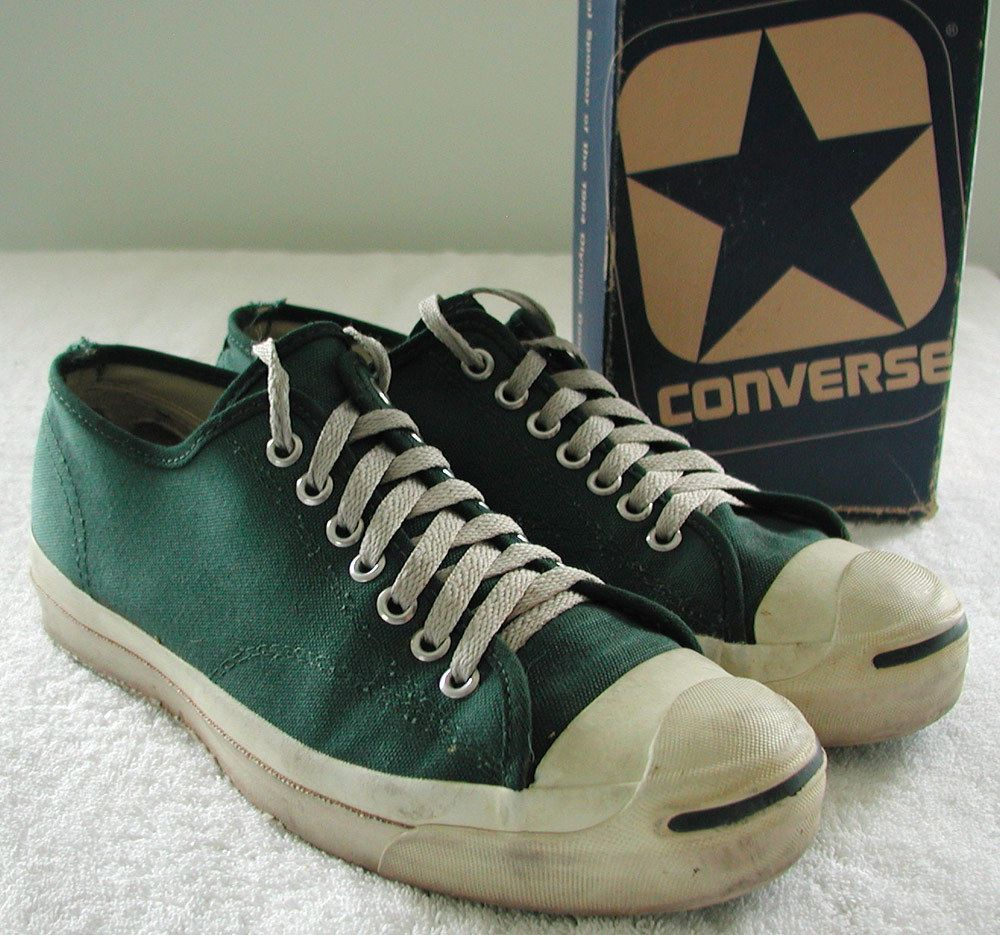 cb5358c7ff18 Vintage Converse Jack Purcell USA Made Green Sneakers Men s US 8.5 + VTG  Box Converse Jack