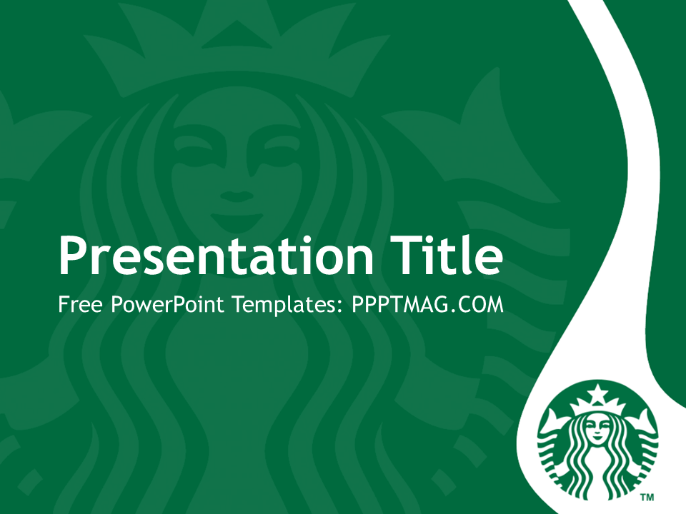 Free Starbucks Powerpoint Template Pptmag Powerpoint