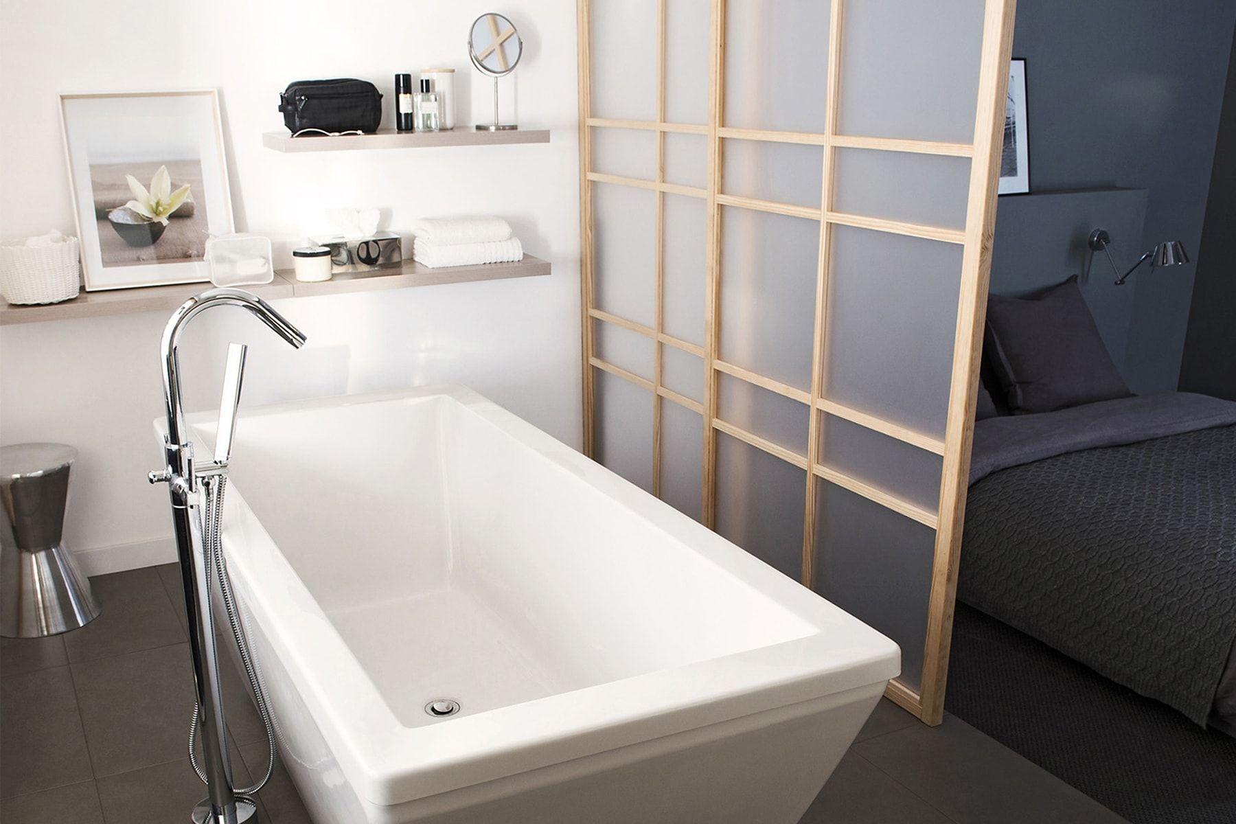 Cloison Amovible Pour Salle De Bain une salle de bains privative : des cloisons amovibles et