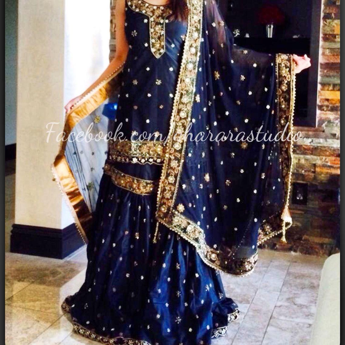 Black Silk Gharara Order Online And Ready To Wear Gharara