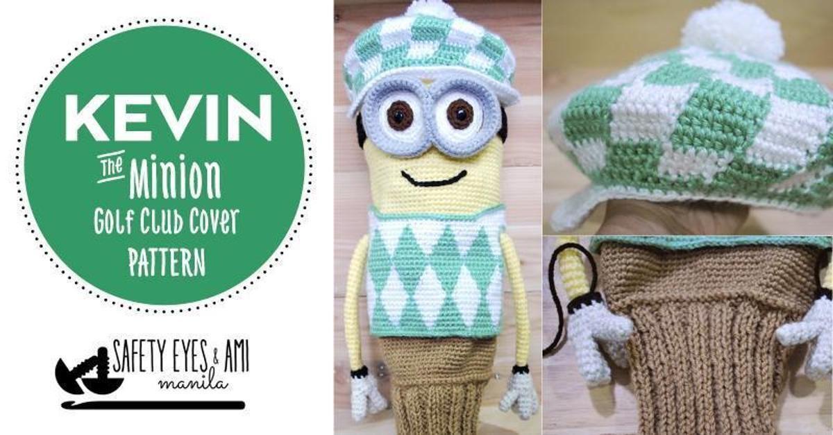 Kevin the Minion Golf Club Cover Pattern | Craftsy | Yarn craft ...