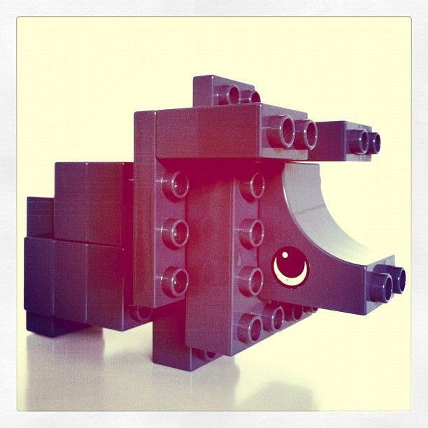 Duplo triceratops from imaginationcostsnothing reuse your existing bricks and save - Jeux lego dino ...