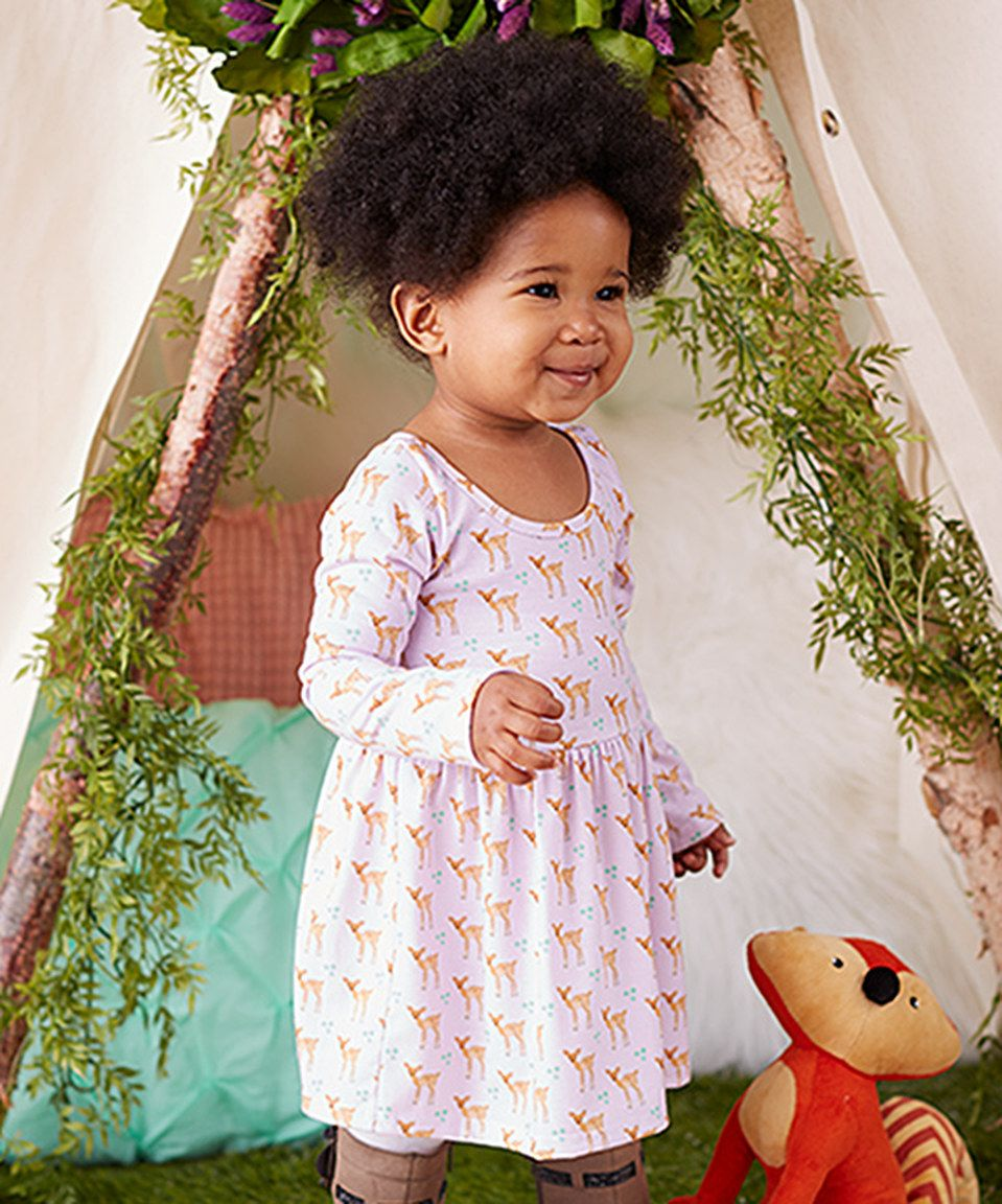 Take a look at this Pickles N' Roses Lavender Fawn A-Line Dress - Infant & Toddler today!