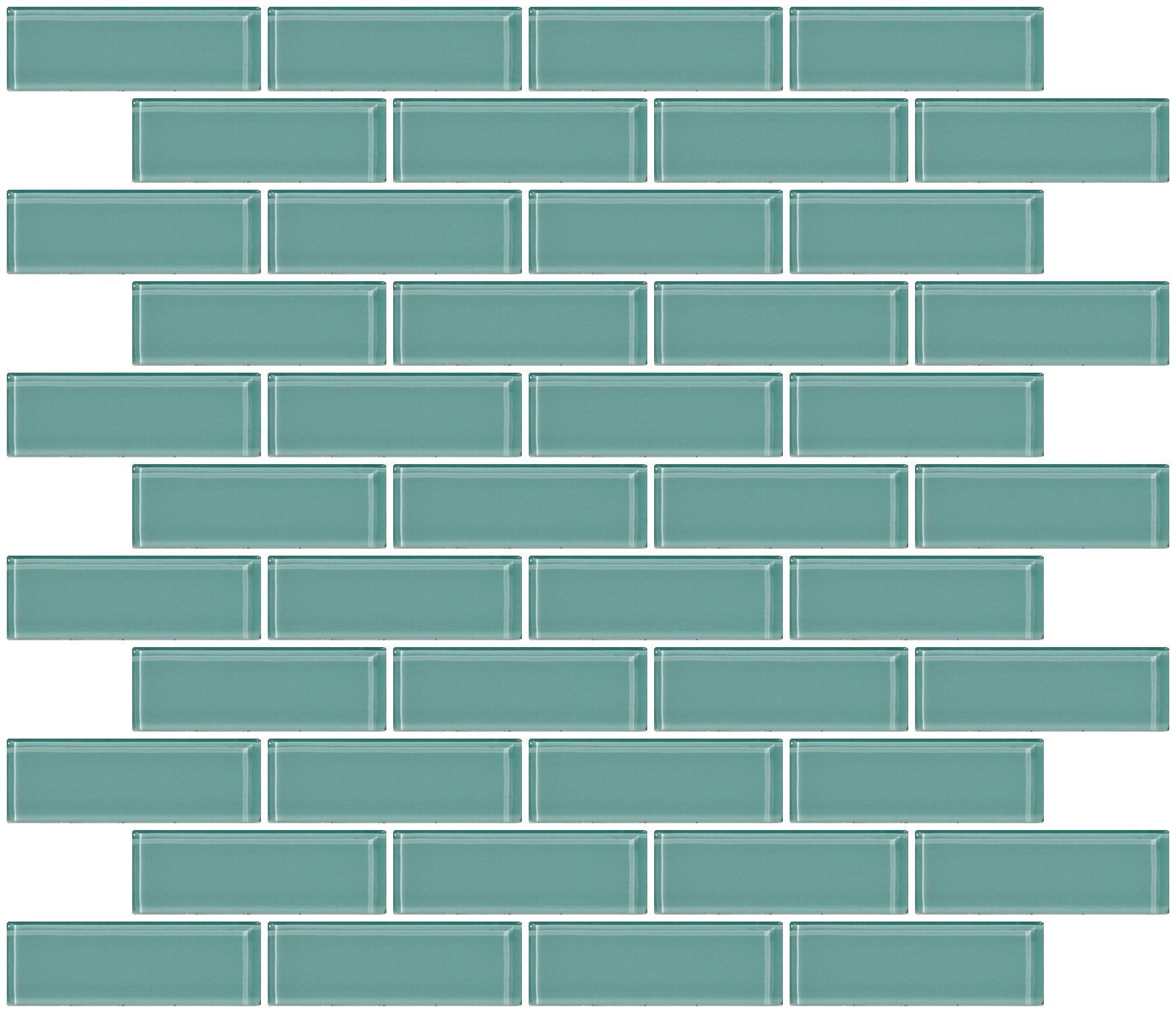 1x3 Inch Light Aqua Blue Glass Subway Tile  Backsplash 629.50
