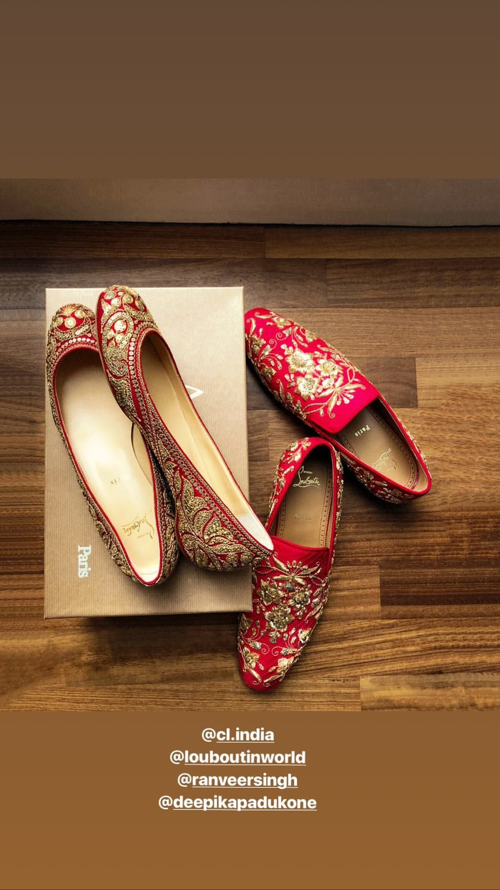 Deepveer Wore These Footwear At Their Wedding View Pic Bollywood Bubble Indian Wedding Shoes Bridal Shoes Wedding Shoes