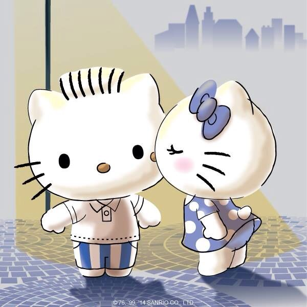 Hello Kitty Kissing Her Love Dear Daniel With Images Hello