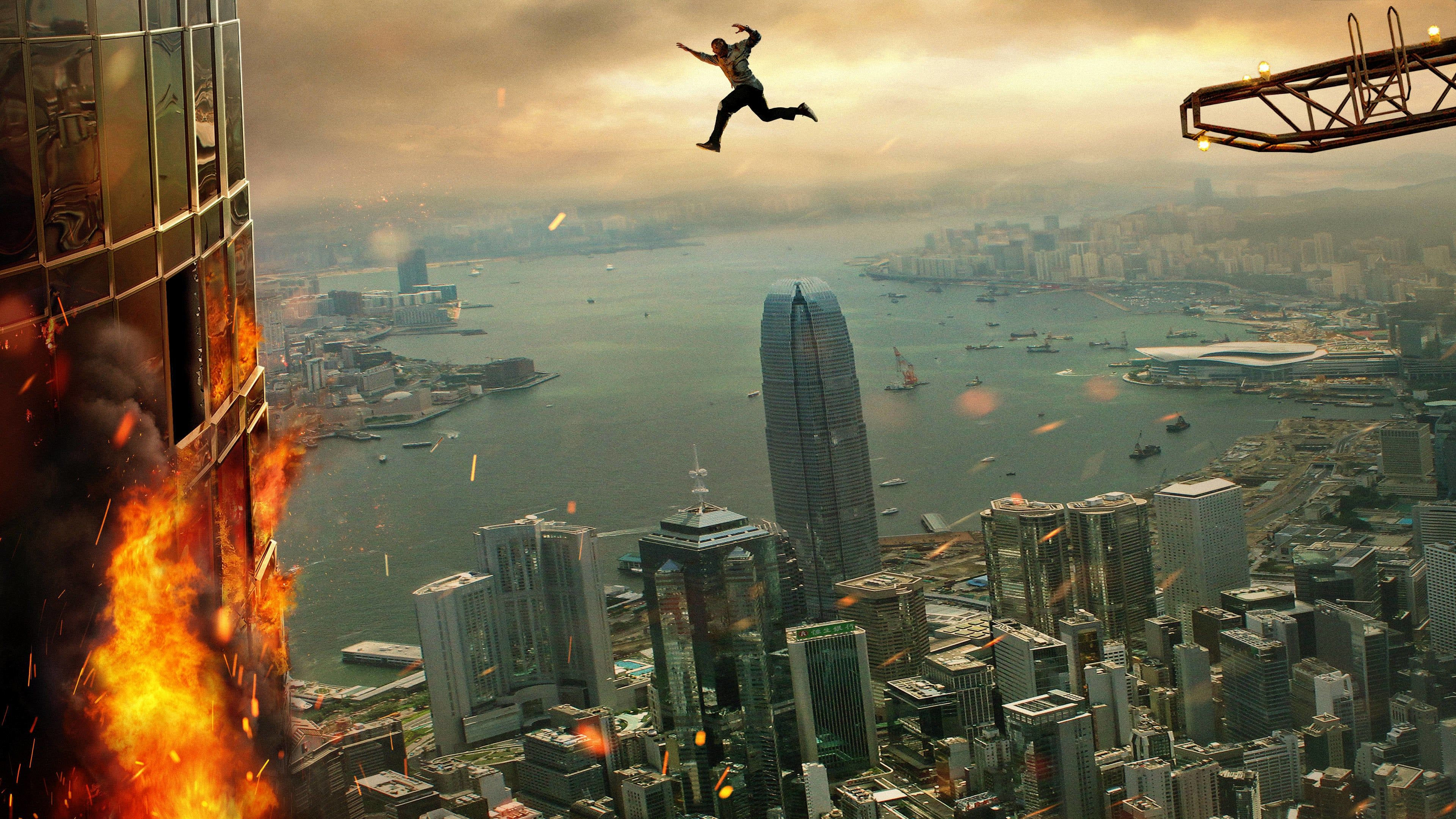 Skyscraper 2018 Film Norsk Undertekst Pa Nettet Movie123framed And On The Run A Former Fbi Agent Must Save His Family From A Blazing Fire In The Film Indonesia