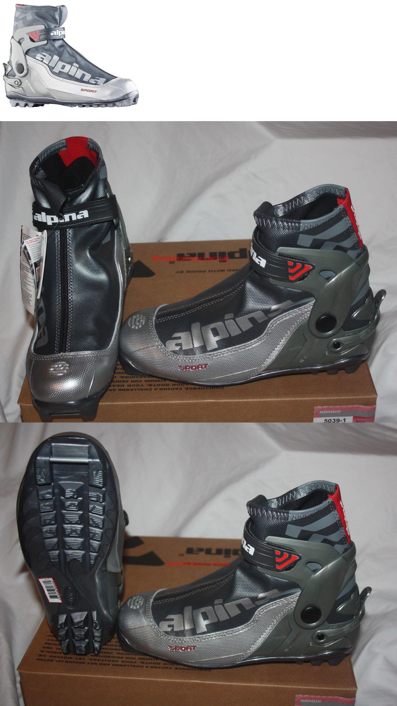 Alpina S Combi Sport Series CrossCountry Nordic Ski Boots Silver - Alpina combi boots