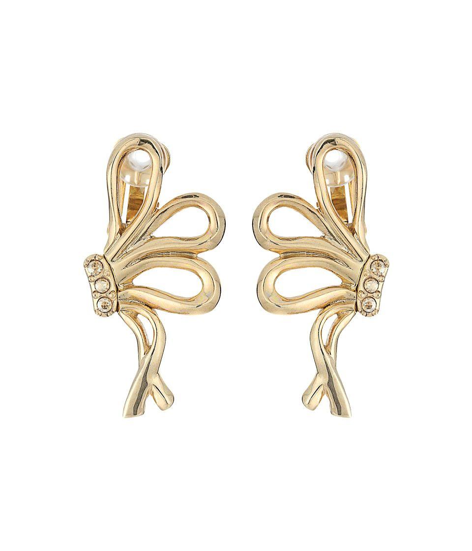 Metal Bow Earrings Oscar De La Renta 3Un9qg