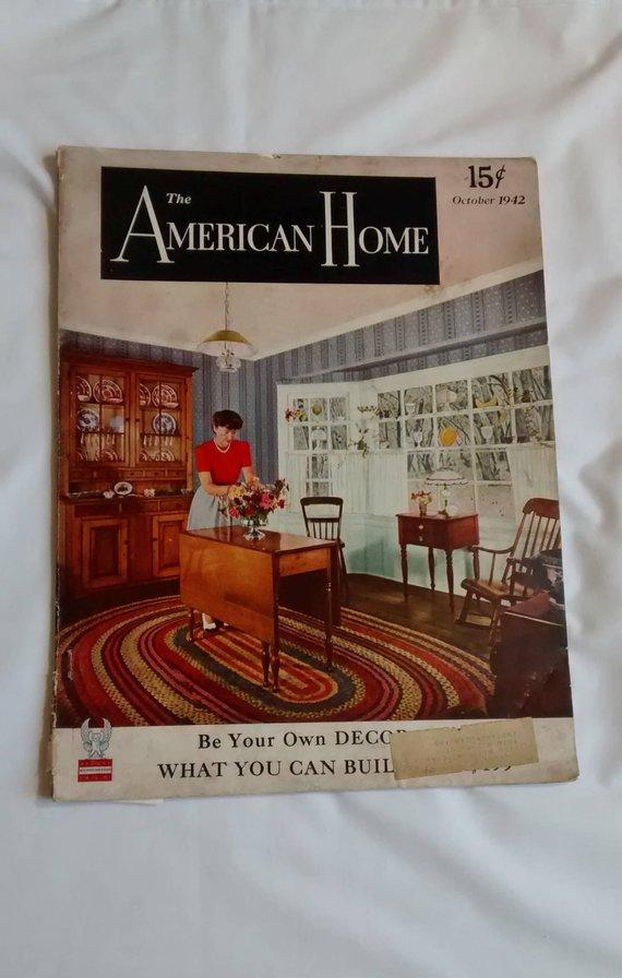 Vintage 1942 The American Home Magazine, Defense, Buy War