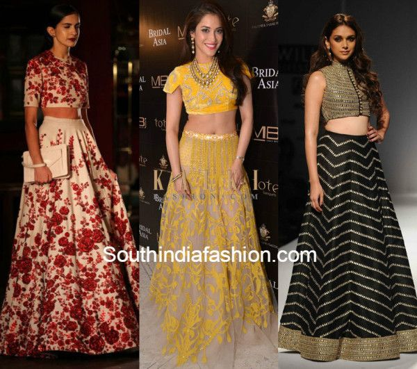 efb45b9488 Crop Top Lehengas 6. Crop Top Lehengas 6 Lehenga Crop Top, India Fashion, Wedding  Trends ...