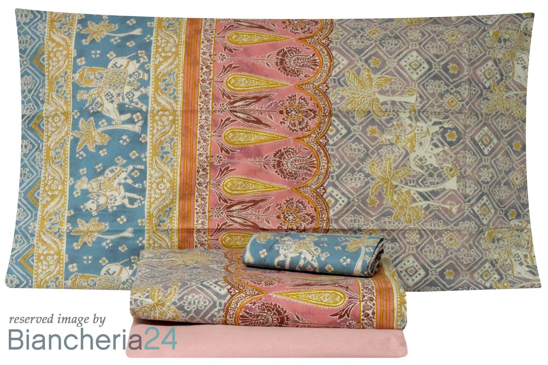Lenzuola Matrimoniale Granfoulard Bassetti Jasmine 5 Lenzuola Copripiumino Trapunte
