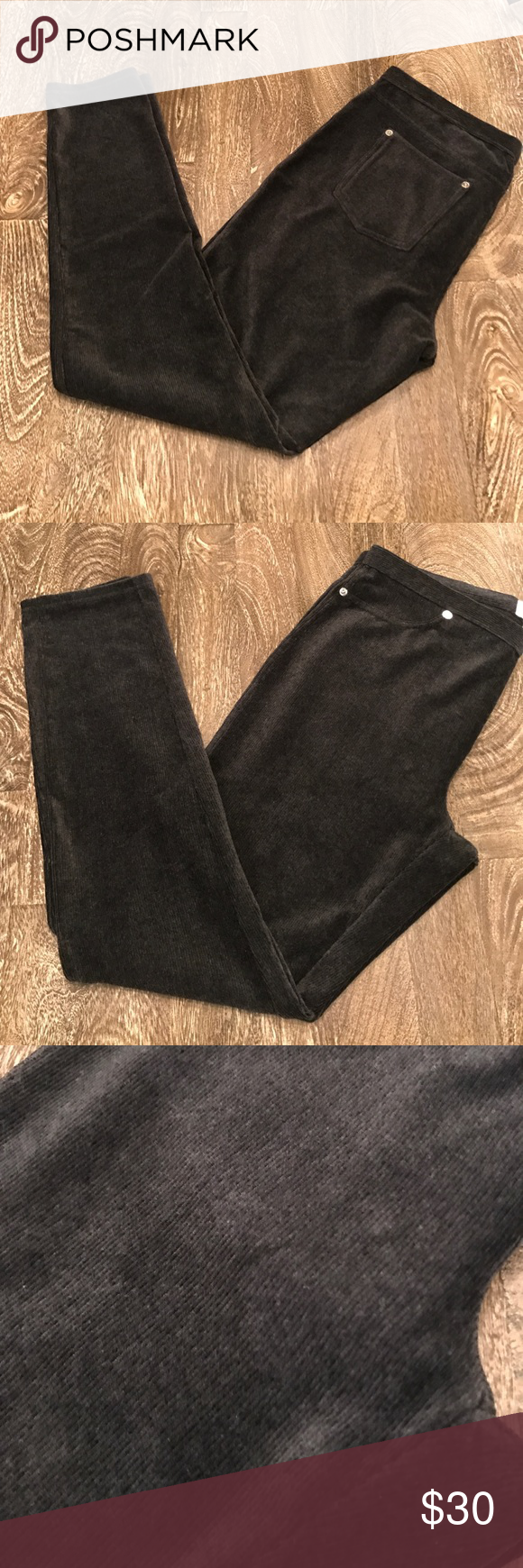 Michael Kors Velvet Leggings These Michael Kors leggings are stylish while still being comfortable!  Details: Gray Velvet Silver Hardware  Excellent Condition. NWT. Smoke Free Environment.  Reasonable offers will be considered.   No trades. MICHAEL Michael Kors Pants Leggings