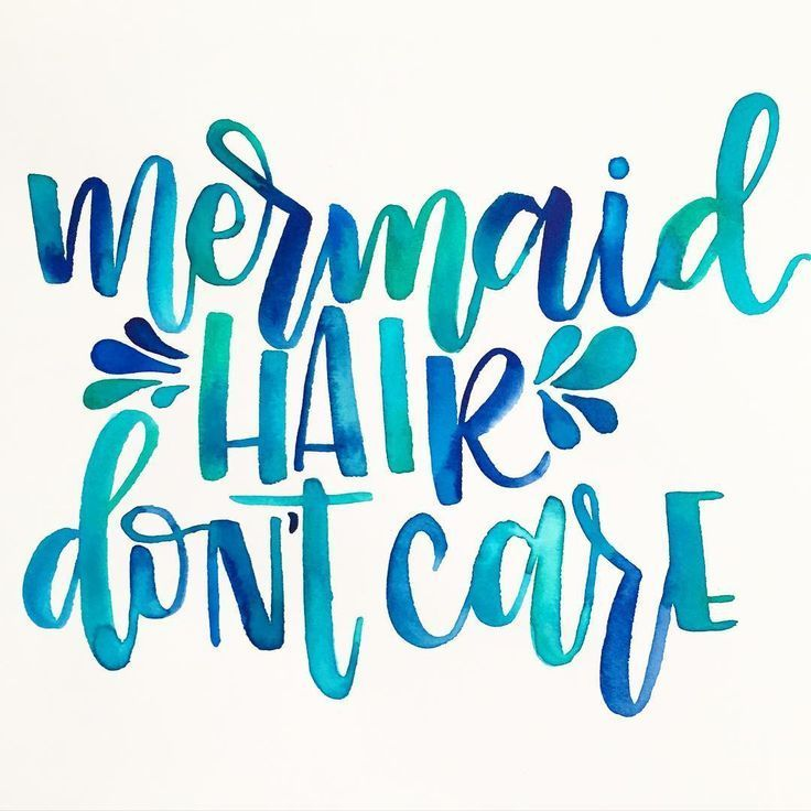 3ff878a34 mermaid hair don't care | Mermaid Fin-spiration | Watercolor ...