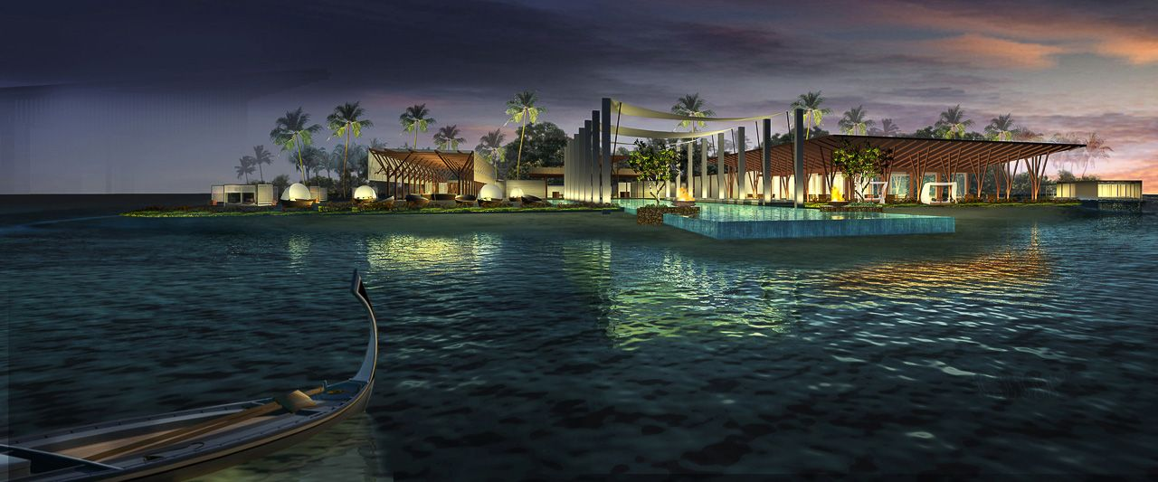 Resort in Lonudhuahuttaa (Maldives) by SCDA Architects