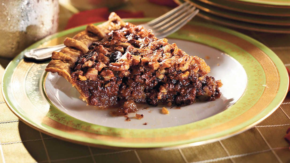 Chocolate-Bourbon Pecan Pie  Southern Living -Click Image For Recipe