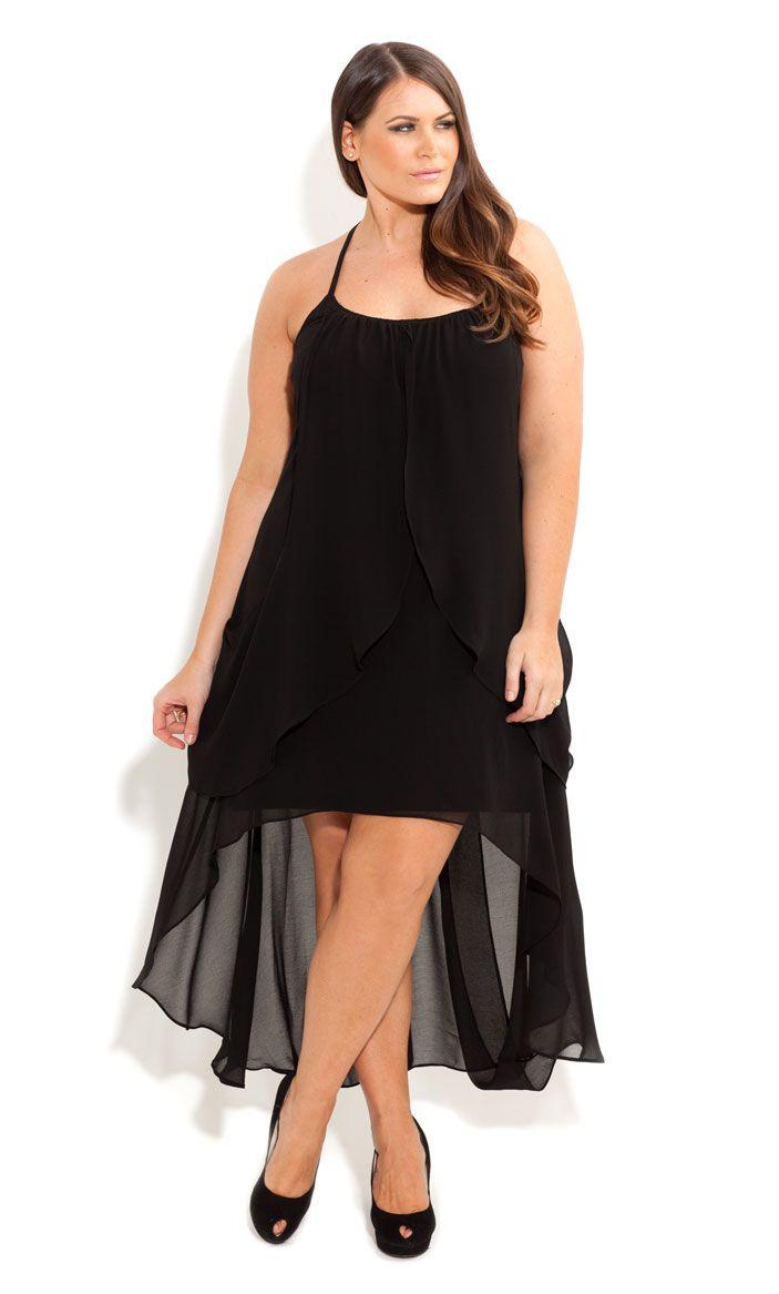 City Chic - DRAPE GODDESS DRESS - Women's plus size fashion