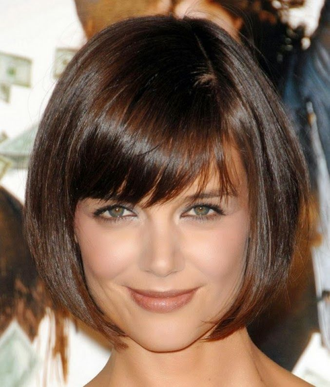 Cute Bob hairstyles for women with bangs and layered