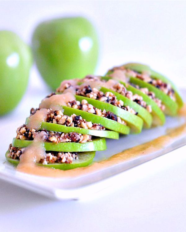 Raw caramel apple cobbler a delicious and fun dessert that is easy raw caramel apple cobbler a delicious and fun dessert that is easy and quick to make figs and dates bring natural sweetness and cashews add crun forumfinder Image collections