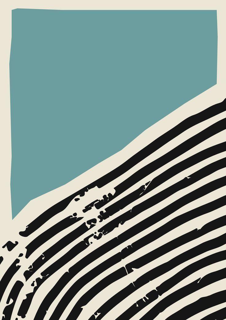 Minimalist Wall Art Prints | Black Frame | Vintage Abstract Painting, Large Framed Abstract Art, Modern Scandinavian Bedroom Decor - Paper Diy