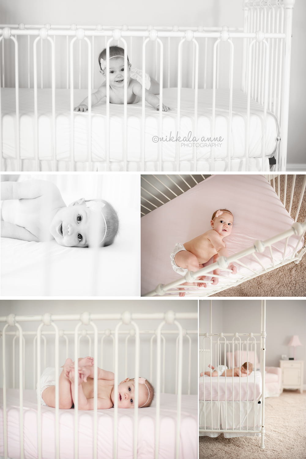 6 Months   Smiles And Toes   Nikkala Anne Photography   6 Month Baby Picture Ideas, Baby Month By Month, Baby Photoshoot Girl