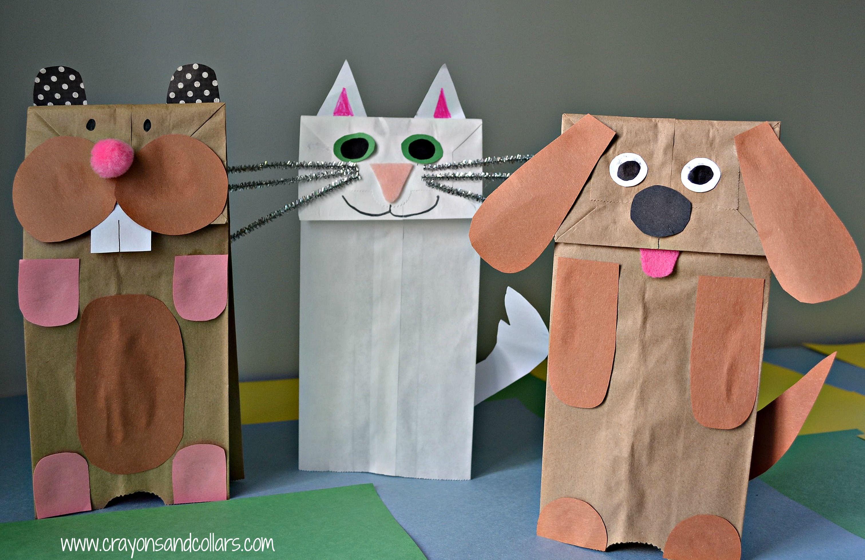 easy paper bag puppets paper bag puppets puppet and craft. Black Bedroom Furniture Sets. Home Design Ideas