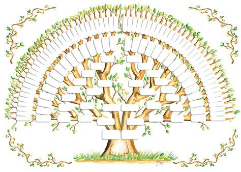 family tree with cousins template