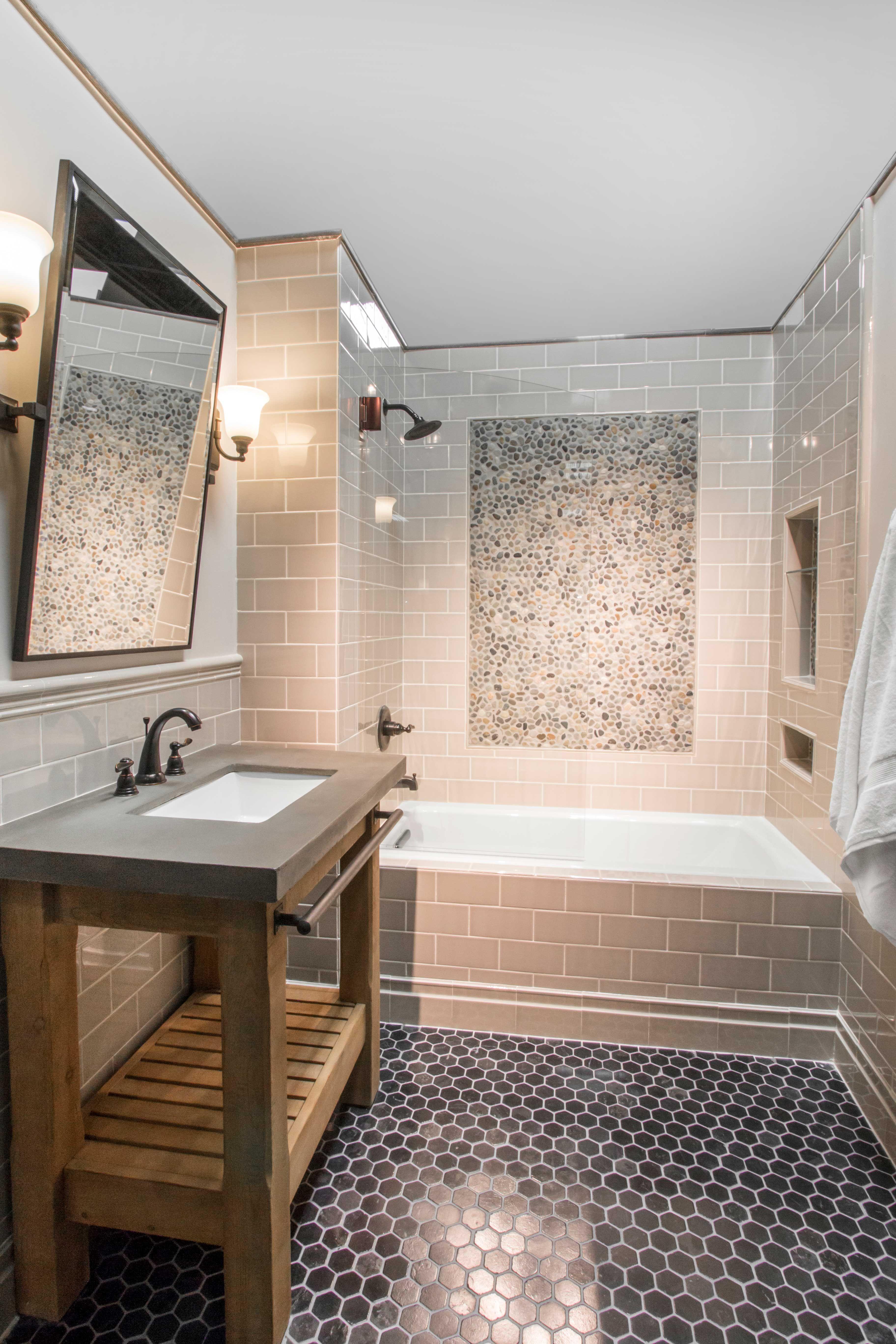Travertine Bathroom Floor black bathroom floor tile - noir hex travertine mosaic tile https