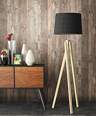 Holz Tapete Vlies Beige Braun Grau Edel schöne edle Tapete im - graue tapete wohnzimmer