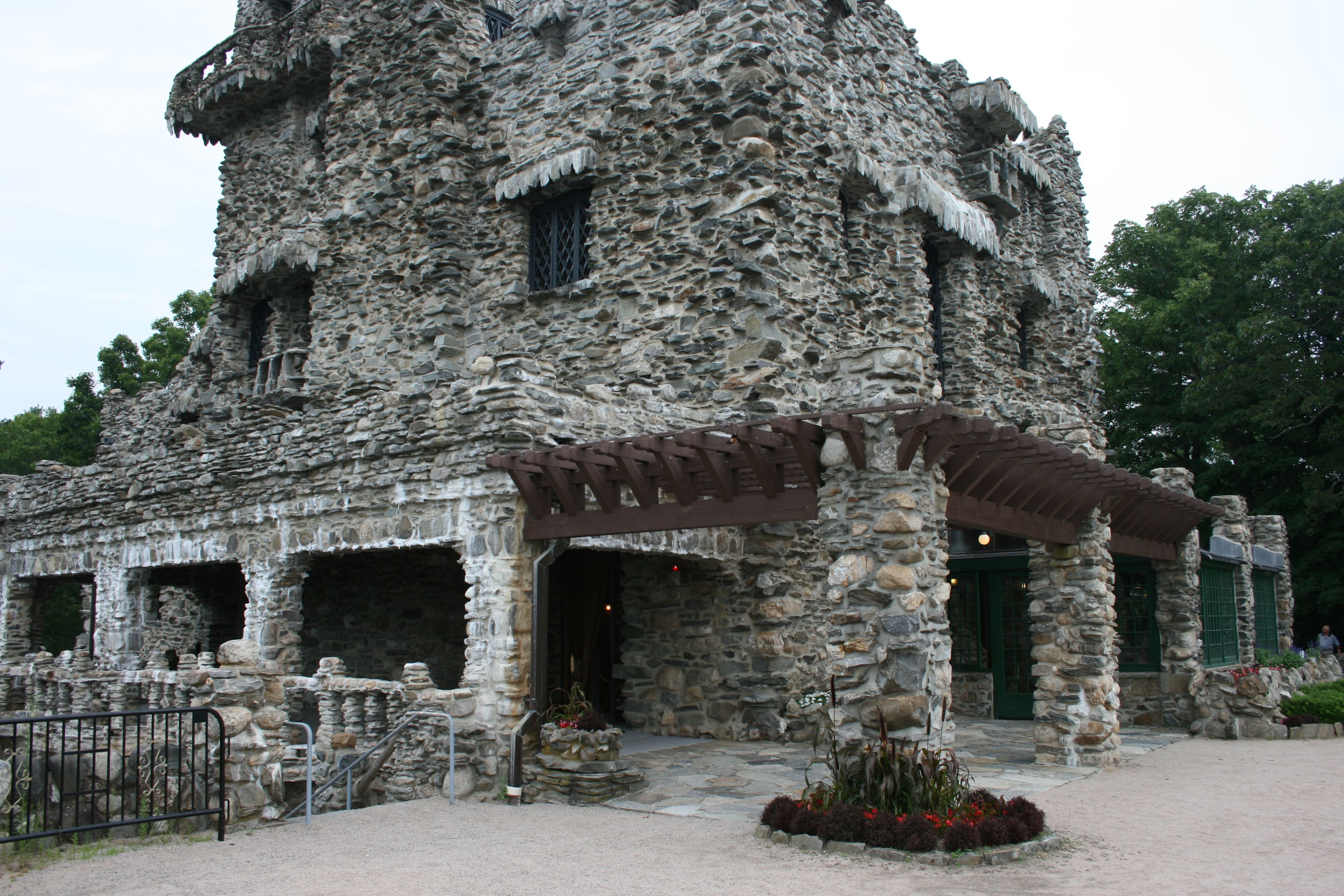 Looking From Where You Would Be Standing Back Toward Your Guests At Gillette Castle Wedding