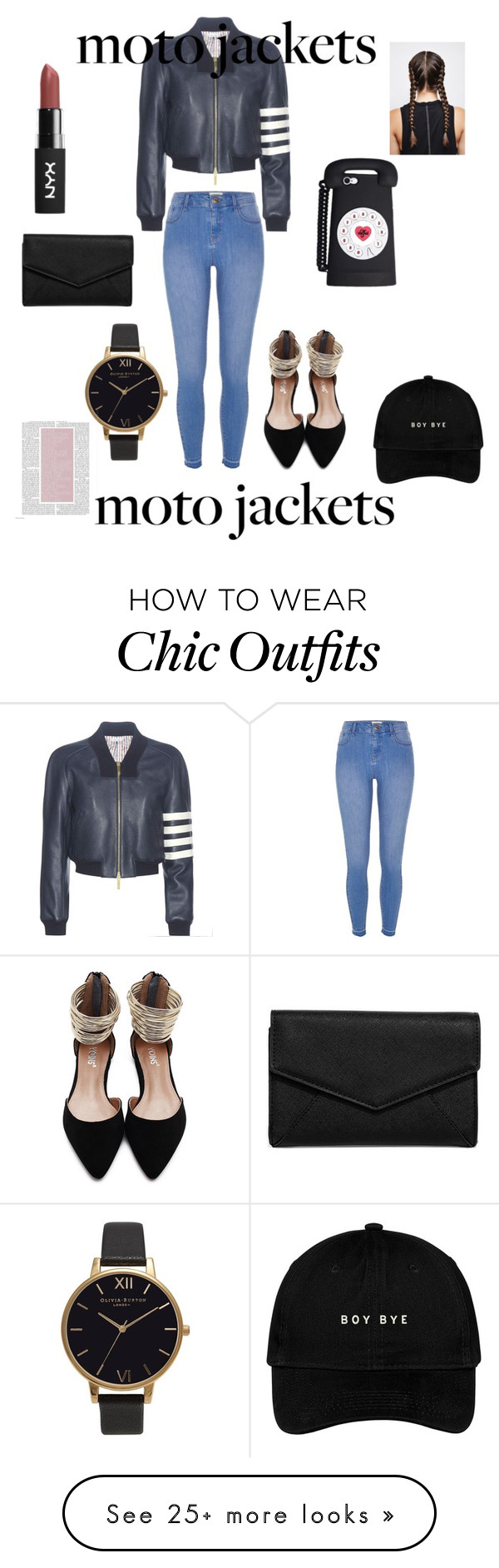 """Untitled #371"" by autumnjones14 on Polyvore featuring Thom Browne, River Island, Olivia Burton and LULUS"