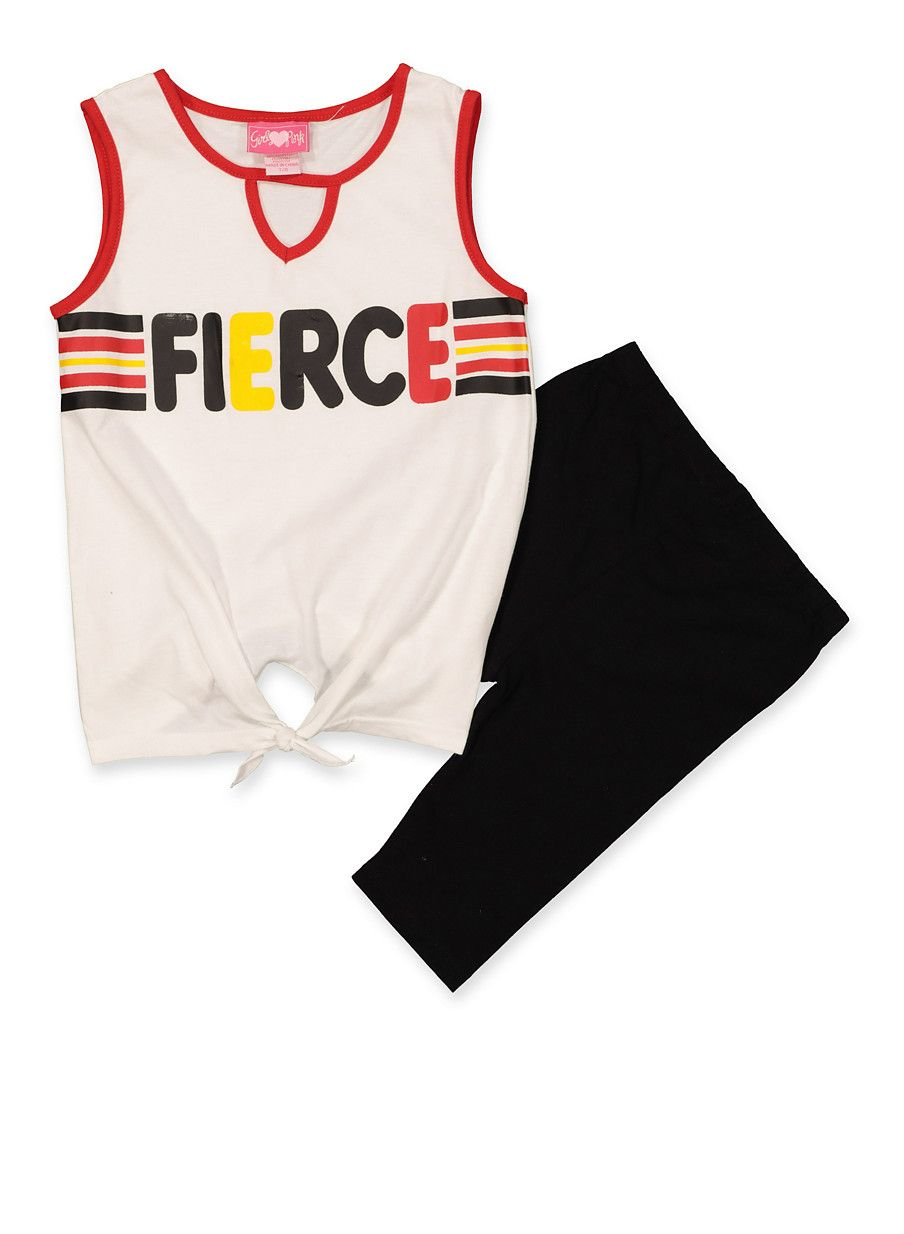 Girls 7 16 Fierce Tank Top And Bike Shorts Set Tank Tops Tops