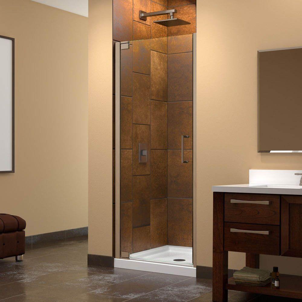 DreamLine Elegance Frameless Pivot Shower Door and SlimLine 32 x 32 ...
