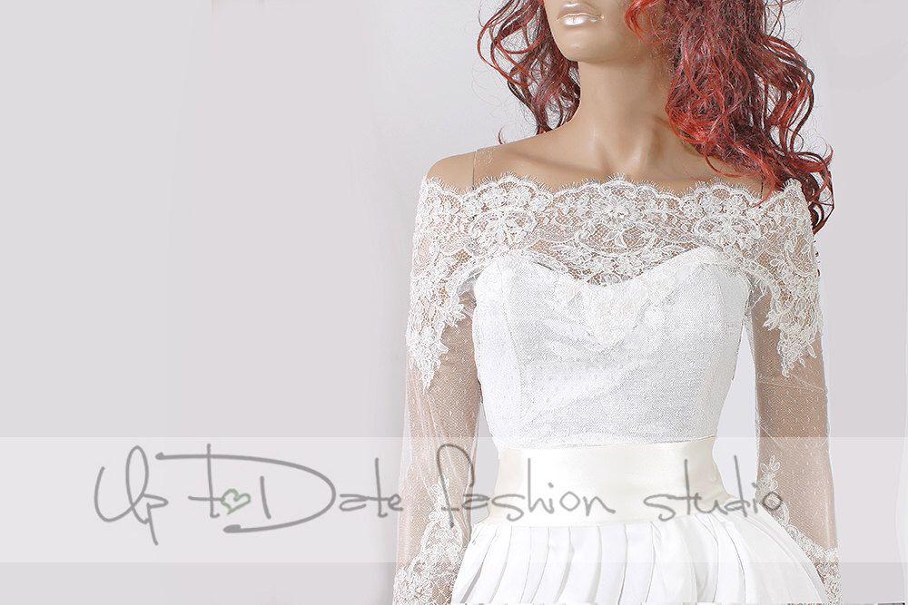 d8727e94931 Plus Size lace bolero Bridal Off-Shoulder  high quality jacket  jacket   lace  top cover up by UpToDateFashion on Etsy ...